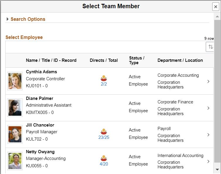 Select Team Member
