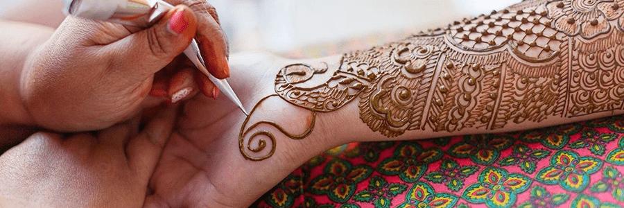 Henna on the arm