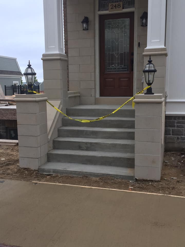 Concrete sidewalk and stairs done in Grand Rapids