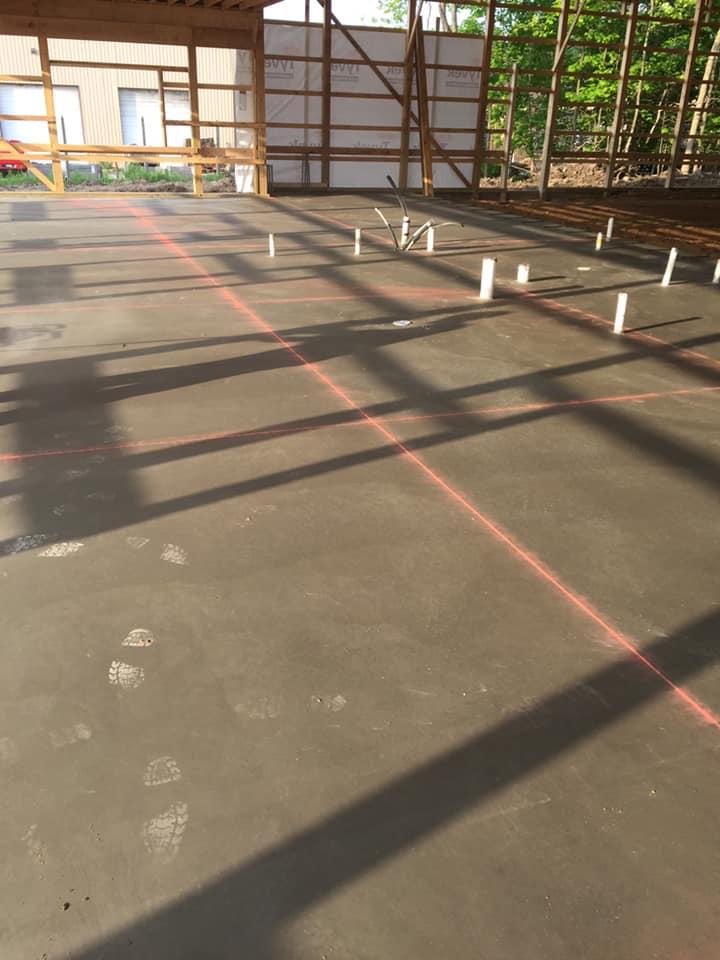 large poured slab concrete project