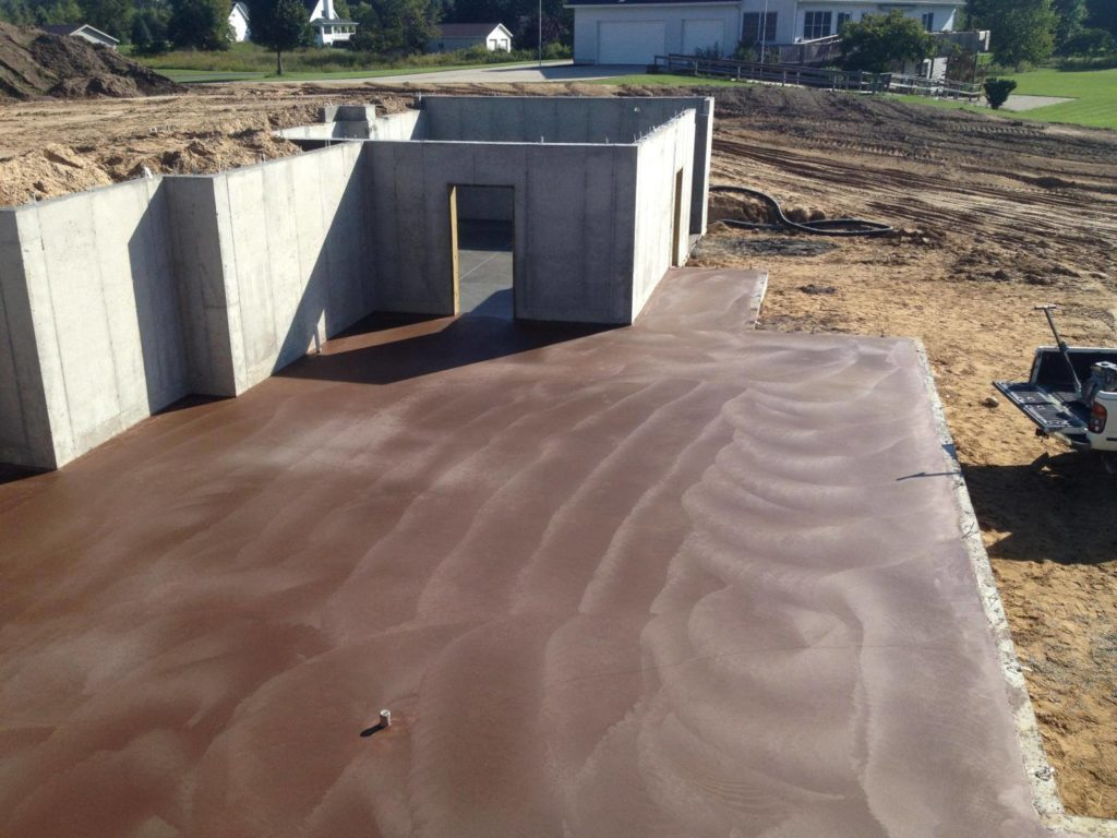 finished poured foundation and walls for a home