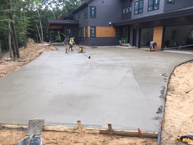 Poured Driveway
