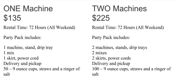 frozen-drink-machine-rental-specs