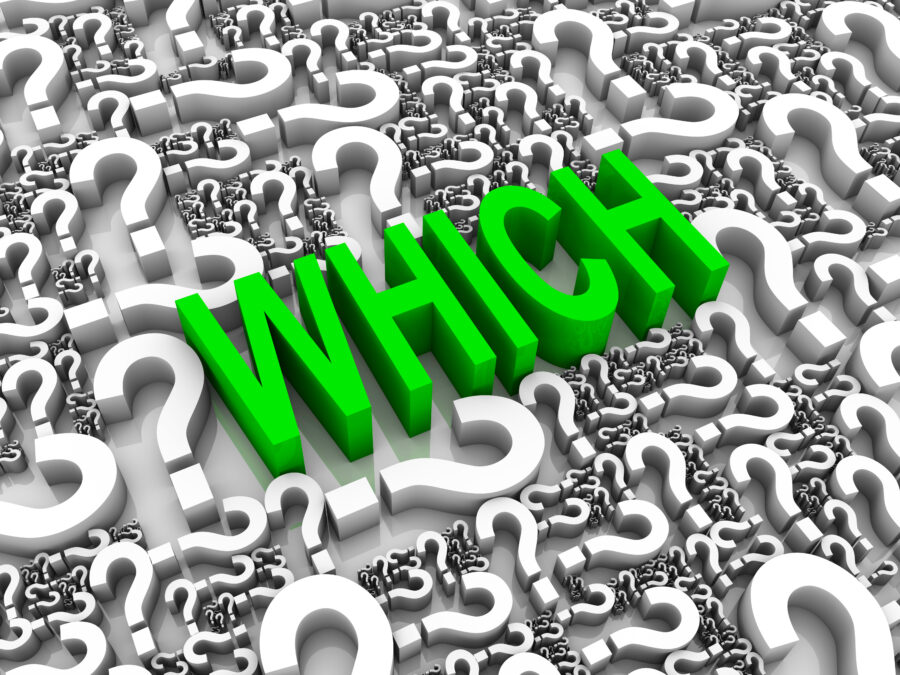 Which and When? Are these questions coupled or separate? (Hint: They're BOTH!)