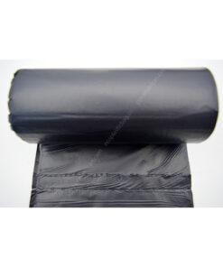 Black HDPE garbage bag