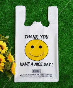 Smile Face Plastic T-shirt Bag