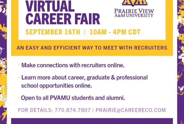 PVAMU Fall 2021 Virtual Career Fair