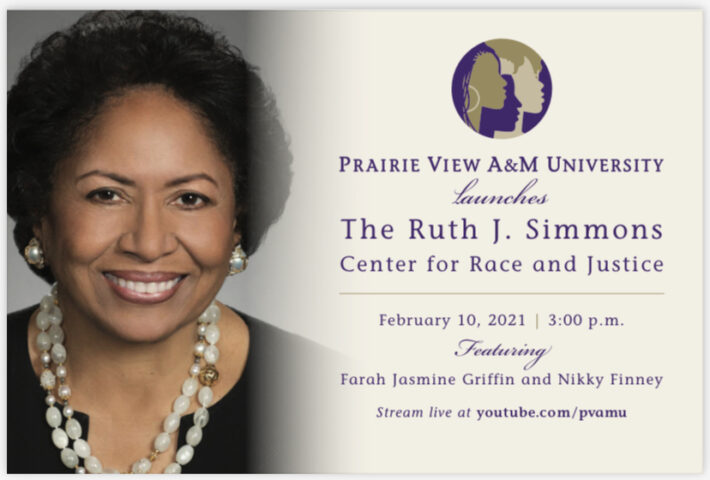 PVAMU Launches The Ruth J. Simmons Center For Race And Justice