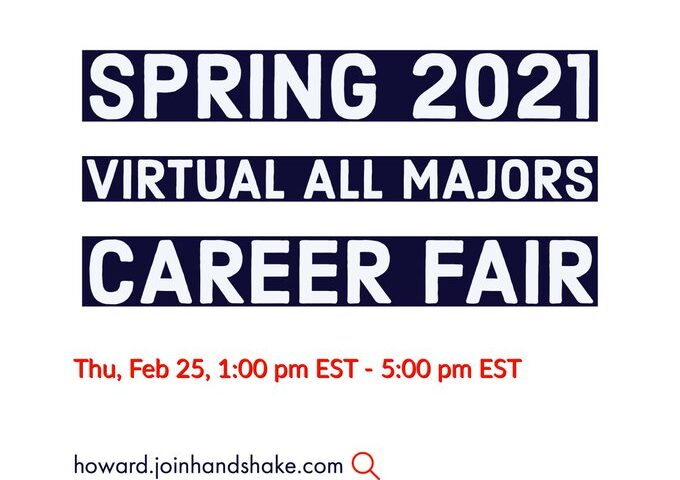 Howard University Spring 2021 Virtual All Majors Career Fair