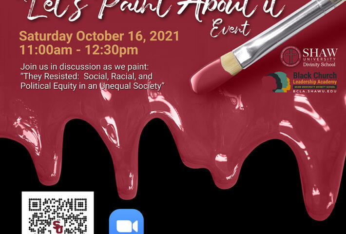 """A """"Let's Paint About It"""" Event At Shaw University"""