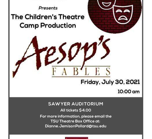 TSU's Children's Theatre Camp Presents: Aesop's Fables