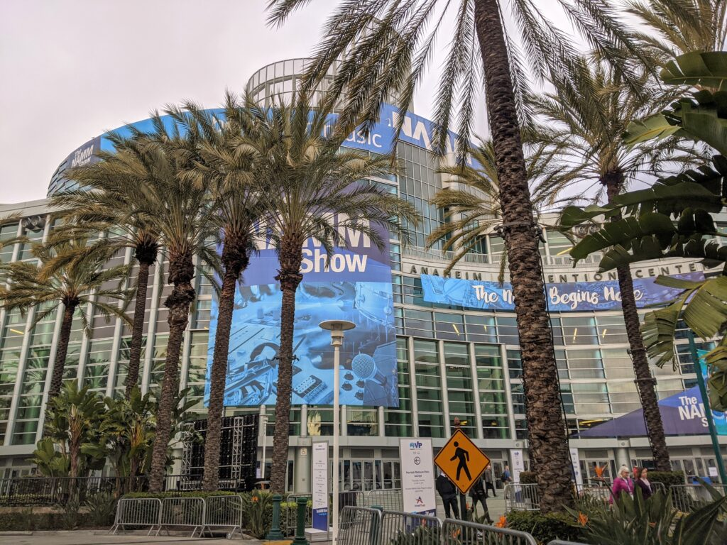 NAMM 2020 - arrived! Anaheim Convention Center