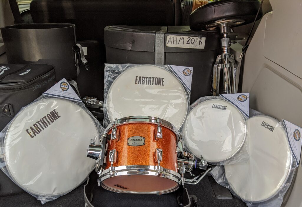 NAMM 2020 YAMAHA Drums, Earthtone Drumheads David W. Hansen