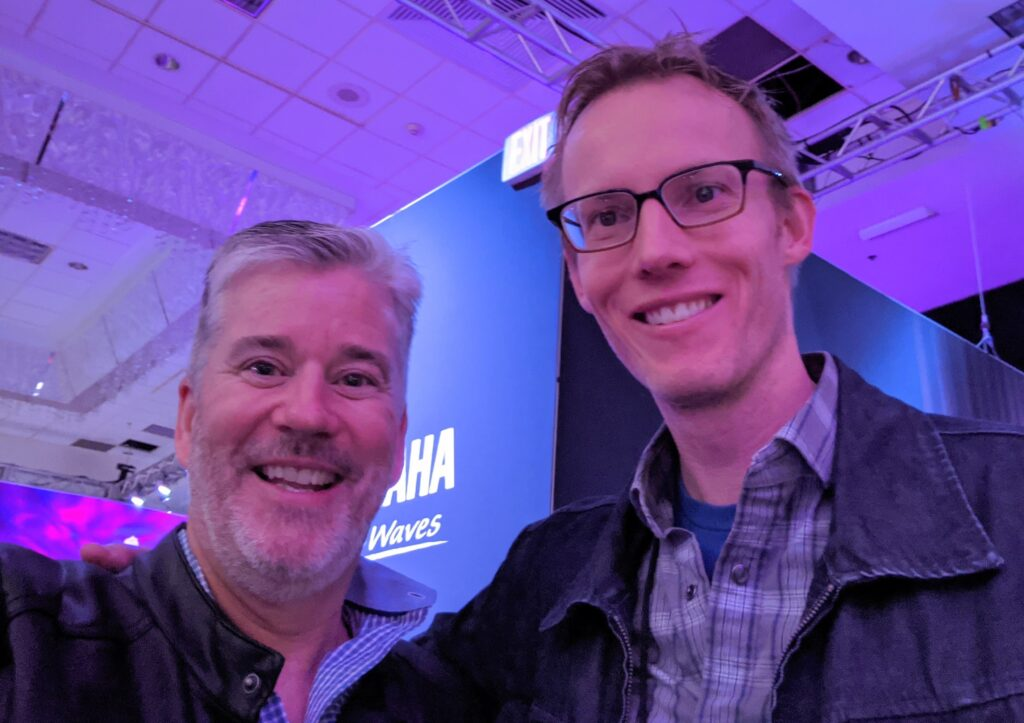 NAMM 2020 YAMAHA Daryl Anderson with Garden District Band member, David W. Hansen