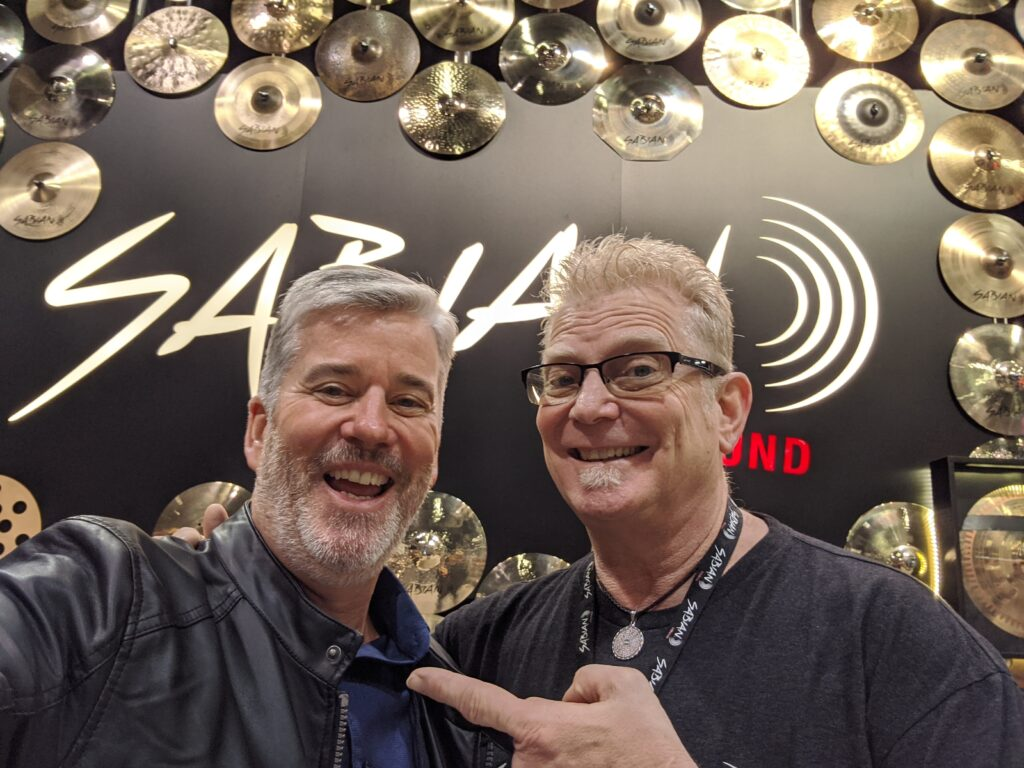 NAMM 2020 SABIAN Cymbals Rick Murray, David W. Hansen, Garden District Band