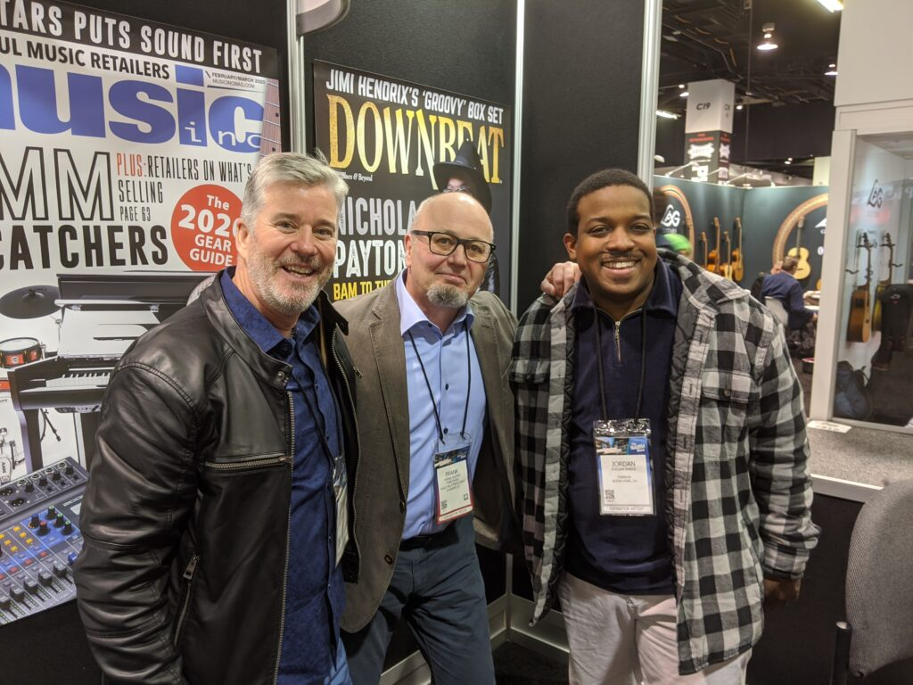 NAMM 2020 DownBeat Frank Alkyer Garden District Band David W. Hansen Jordan Baker
