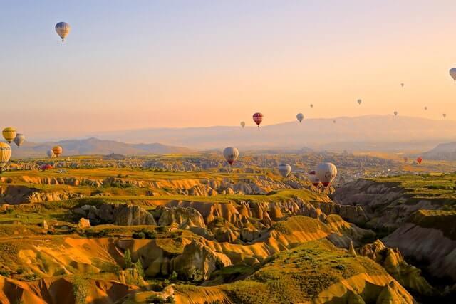montgolfières cappadoce turquie