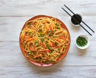 Street food hakka noodles