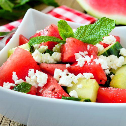 Watermelon & fresh mint salad