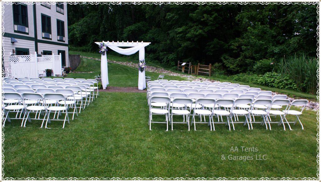 Wedding Chair Set Up Saratoga Springs NY