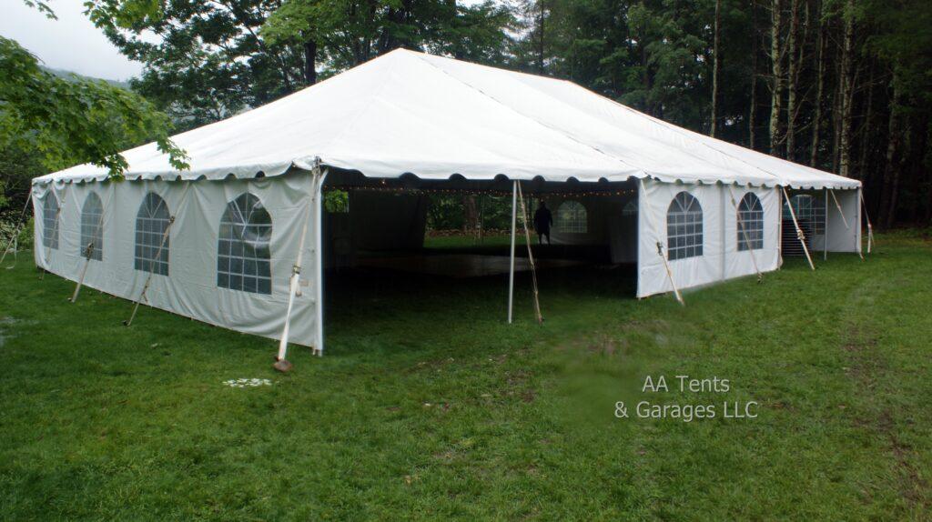 40' x 60' Frame Tent With Window Sidewalls