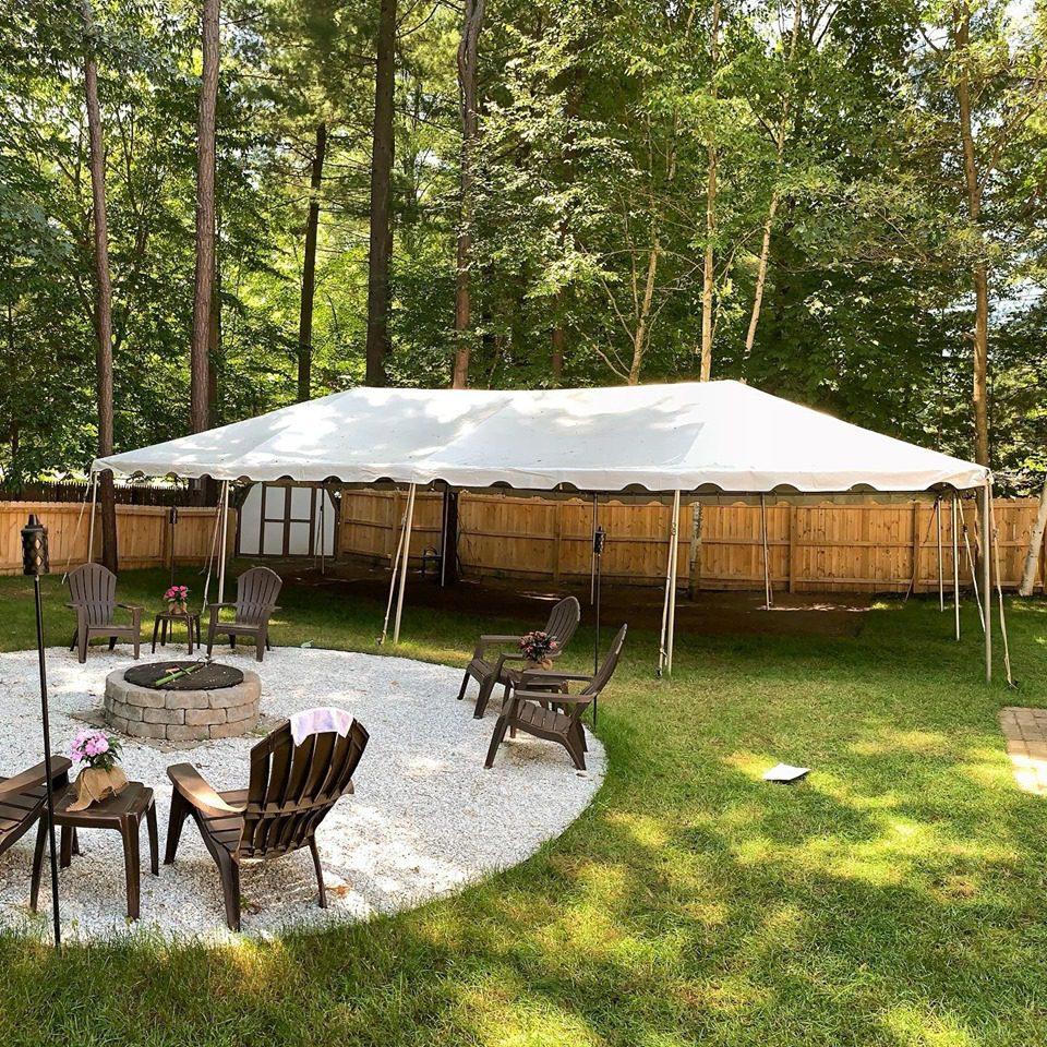 20 x 40 White Frame Tent