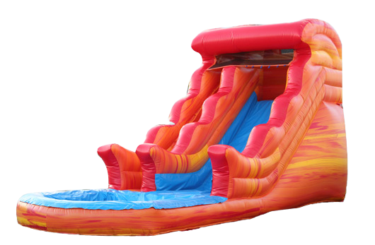 18' Red Volcano Water Slide