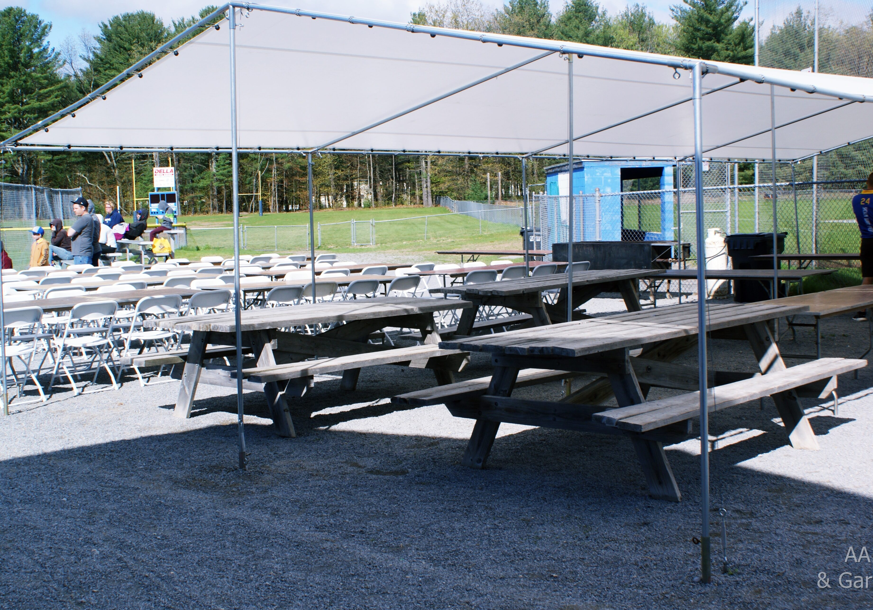 20' x 40' White Standard Canopy Queensbury Little League