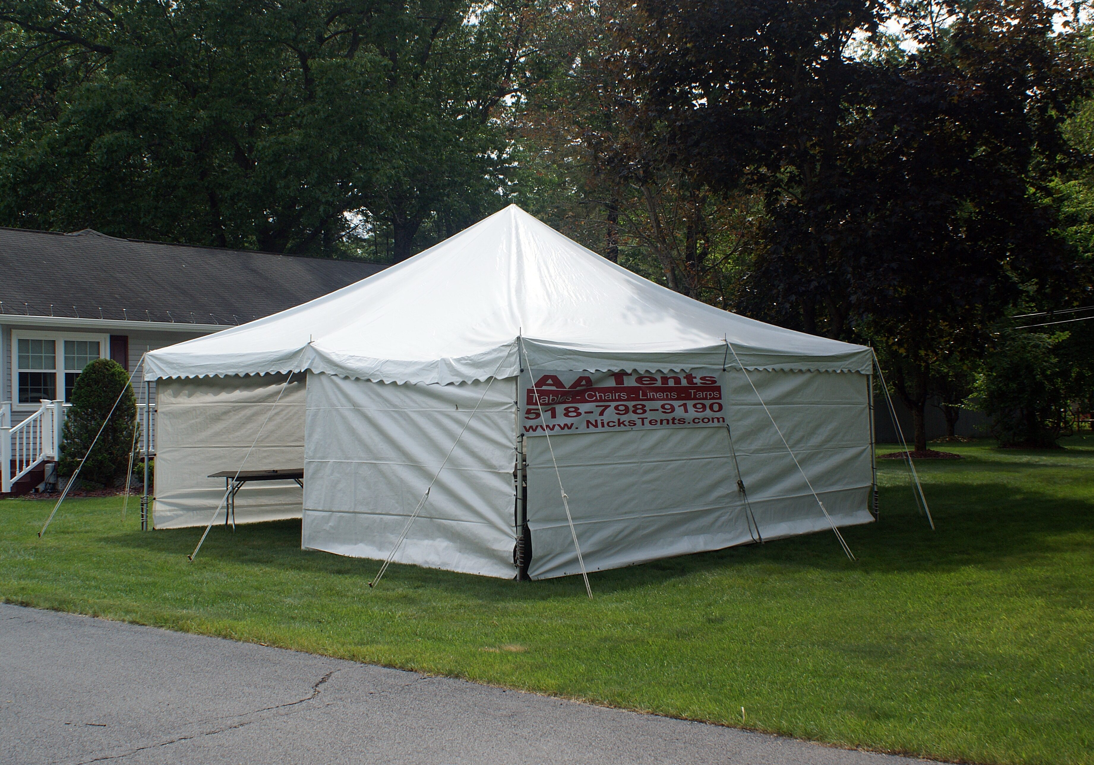 20' x 20' White Pole Tent