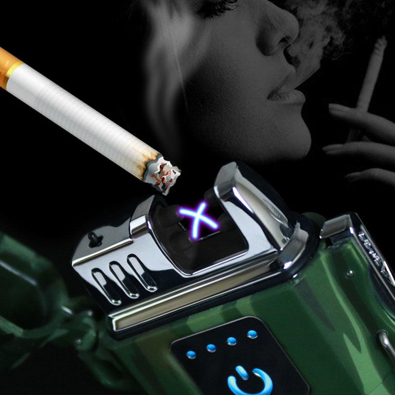 Electric Cigarette Lighter Flameless Waterproof WindproofDouble ARC USB Lighter LCL317