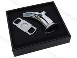 Cigar cutter and lighter set