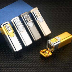 Best Custom Cigar Lighter Quad Flame Butane Cigar Lighter custom printed LOGO LCT354