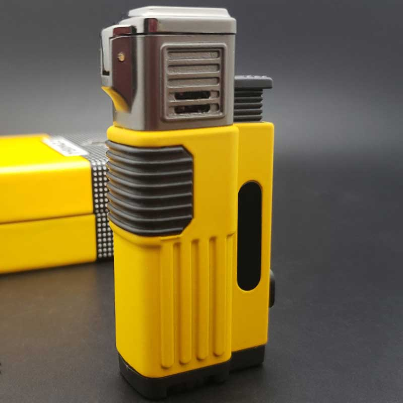 Cigar Lighter With Punch Triple Jet Flame Multi-functional Cigar Lighter with a Built Punch