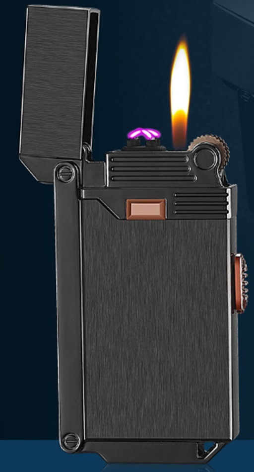 Gas Flame with USB ARC Lighter