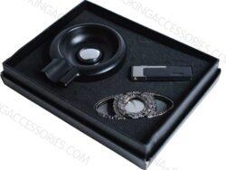 Custom Cigar Cutter Lighter Ashtray Gift Sets Engraved LOGO Z608
