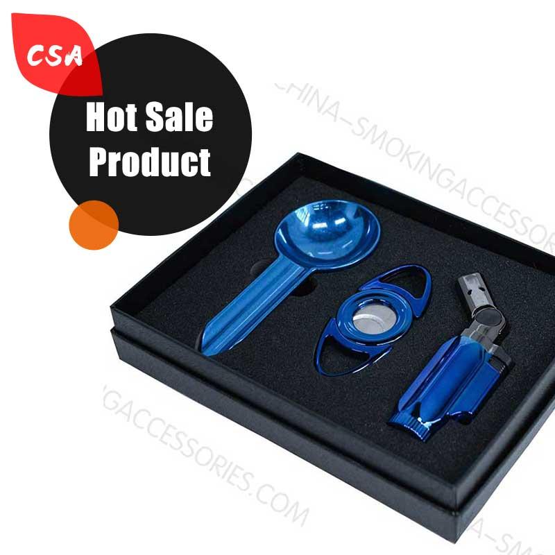 Cigar Accessories Gift Custom Cigar Gift set Ashtray lighter Cutter Z609