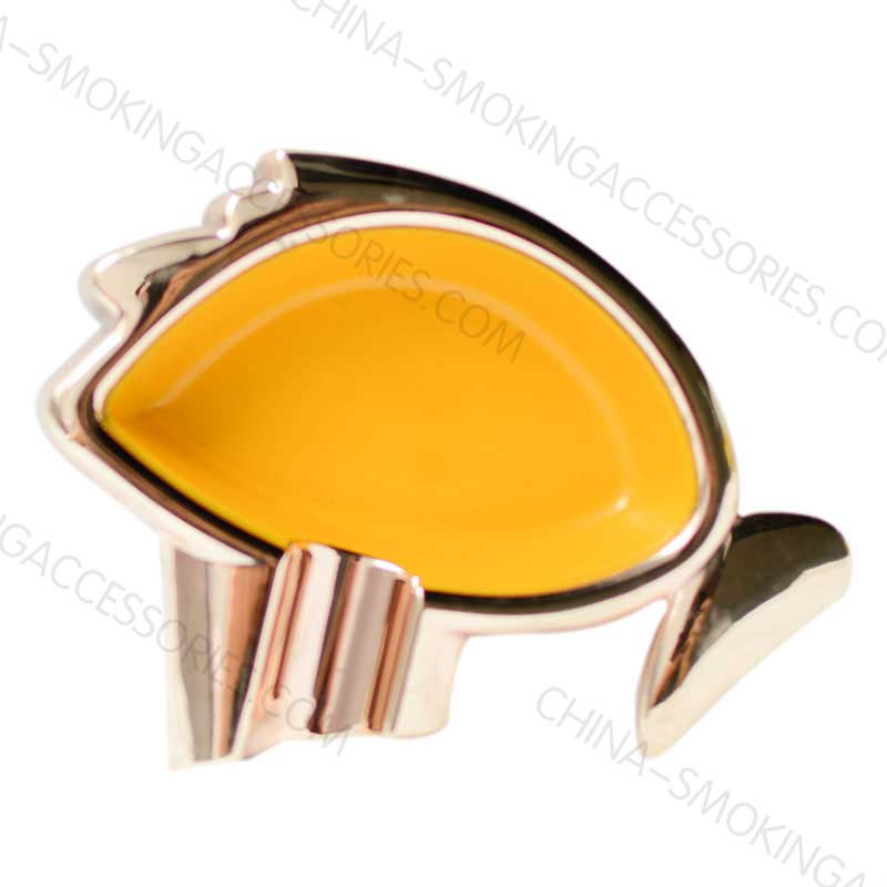 Portable Cigar Holder Ashtray Metal with Gloss finish and Custom Colors