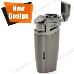 Custom Cigar Lighter Multi Tool Triple Jet Flame with Built in Punch LCBP 3096