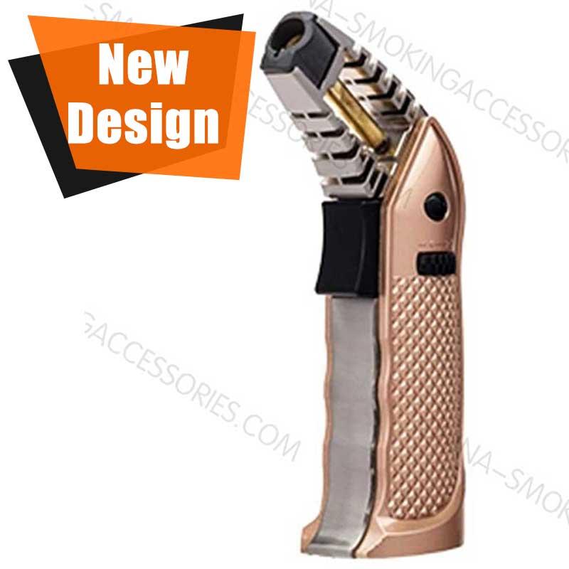 Cool Custom Cigar lighter with Safety Lock Big Butane Tank Custom Design LCB165
