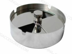 Windproof Ashtray Custom Logo Round Stainless Steel For Cigarette and Tobacco A504