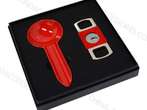 Cigar Cutter and Ashtray Gift Set Custom Print LOGO and Color Z003
