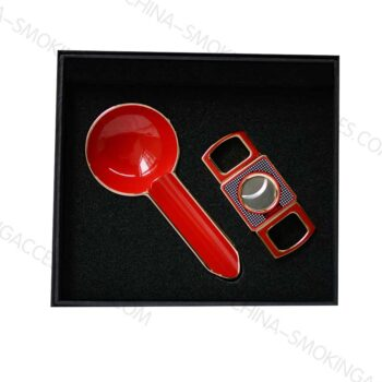 Cigar cutter and ashtray gift set