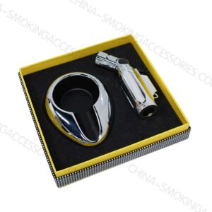 Custom Cigar Accessories Set Lighter and Ashtray