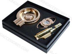Cigar Gift Set Custom Printed LOGO Cigar Cutter Lighter Ashtray