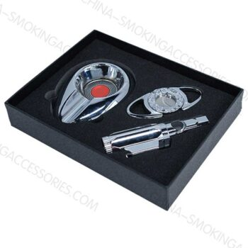 China Factory Cigar Accessories Gift set Cigar Cutter Lighter Ashtray Gift Sets Z605
