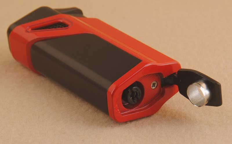 Custom Cigar Lighter Hole Punch Cutter Triple Jet Flame Cigar Lighter with a Punch LCBP3083