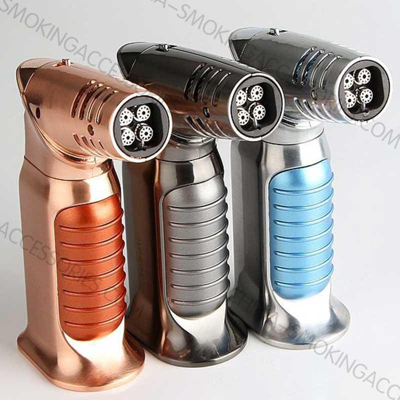 wholesale lighters suppliers Quad Flames Butane Cigar Lighter Custom