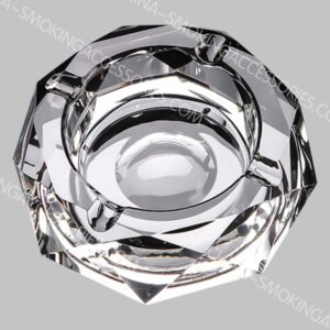Round Crystal Smoking Ashtray k9 Rainbow Crystal Ashtray Glass For Indoors and outdoors AS540-02