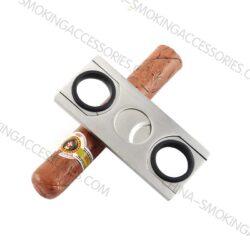 Custom Cigar Cutters bulk Cigar Cutter Stainless Steel Double Blade Guillotine Scissors CS025