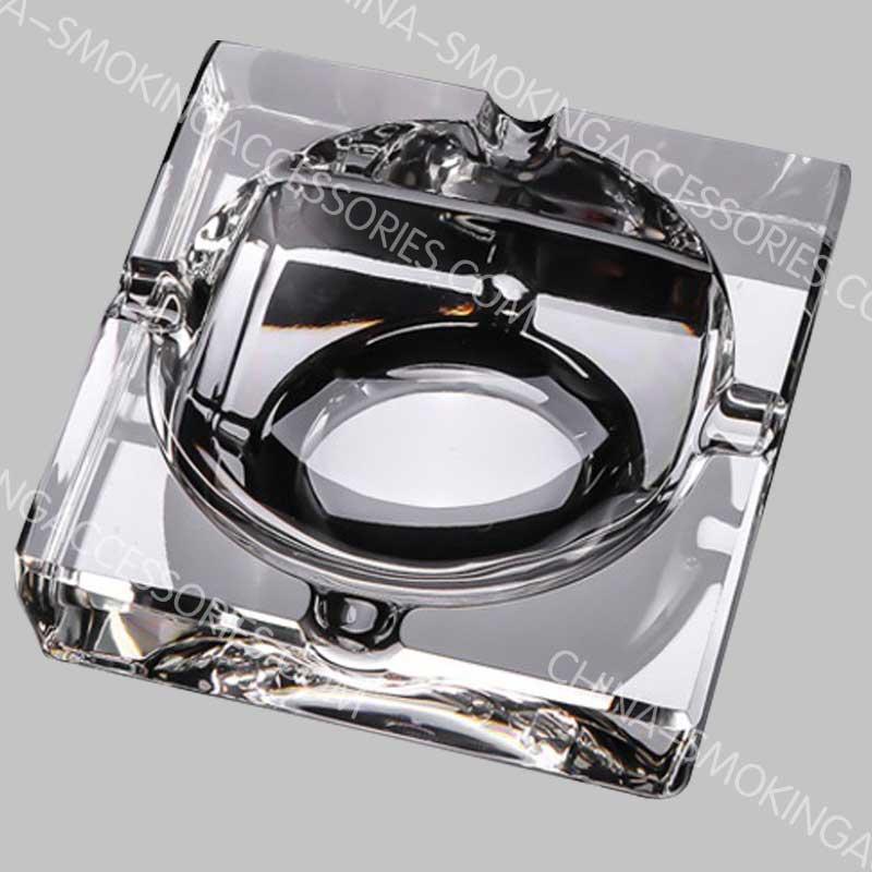 Square crystal cigarette ashtray